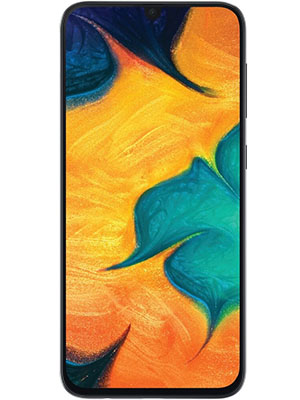 Front View of Samsung Galaxy A30