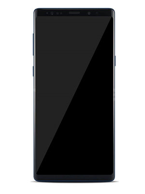 Front View of Samsung Galaxy Note 9