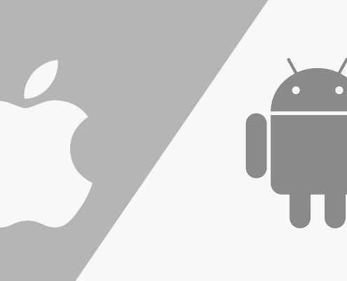 androiod and iphone logo